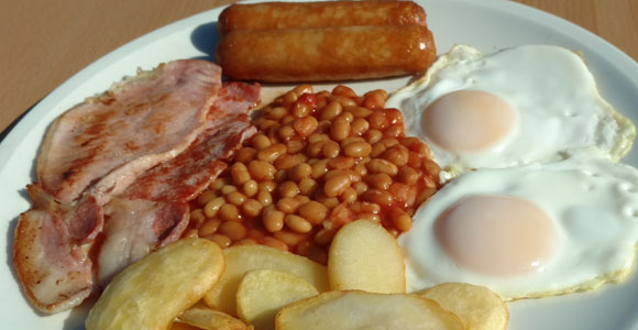 Our Clacton cafe serves cooked breakfasts all day.