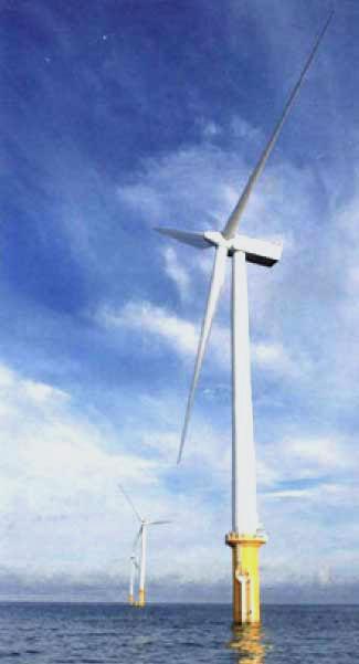 Wind turbines on the Gunfleet Sands