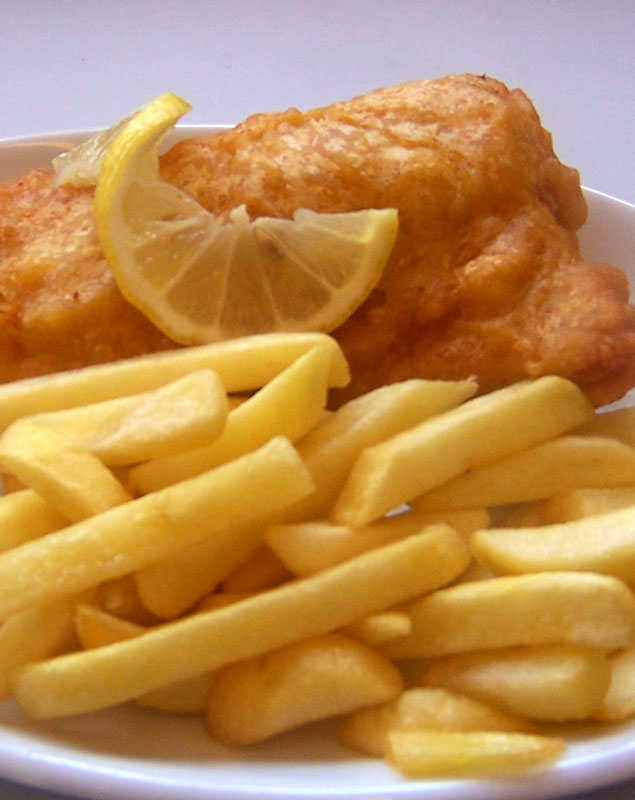 Food for lunch - Fish and Chips