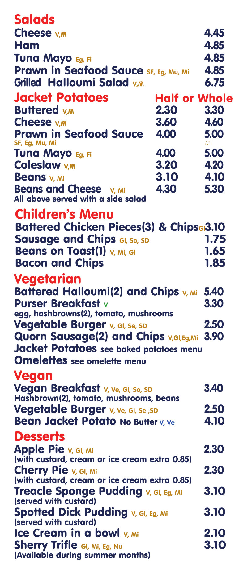 Cafe Menu 2019 Lunches