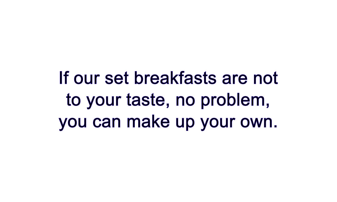 Breakfast Text